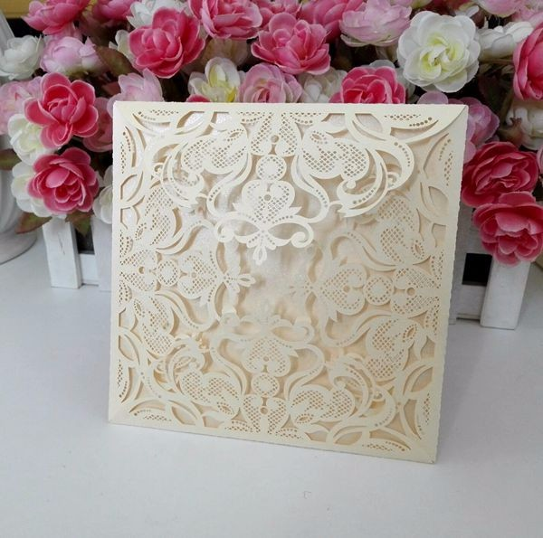 Selling like hotcakes invitation card wedding laser cut folded wedding invitations wholesale