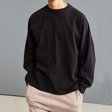 <strong>Men's</strong> long dropped shoulder sleeve t-shirt with loose and fashion