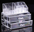 Acrylic makeup Organizer 2 Drawers (B-0340)