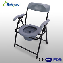 Patients Portable Stainless Steel Folding Commode Toilet Chair Seat For Elderly