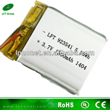 923541 lithium ion battery manufacturers 3.7v 1500mah gps tracker with one year battery