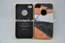 for iPhone Leather skin Aluminum case wholesale or customization