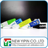 Custom full color waterproof id tyvek paper wristband