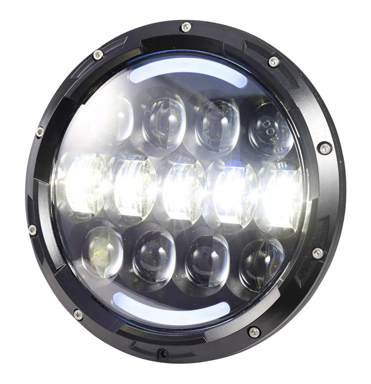 Super Bright 105W 7 inch Round LED Headlight for Jeep Wrangler and Harley Motorcycle
