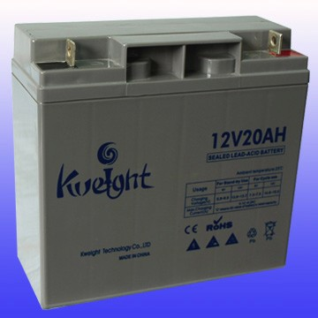 12V 20AH VRLA AGM rechargeable battery for small solar power system