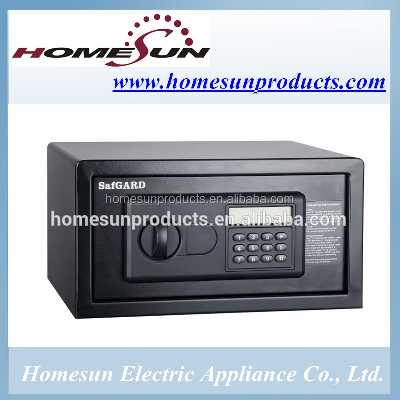 high security hotel safe with digital keypad for room with semi-auto electronic lock