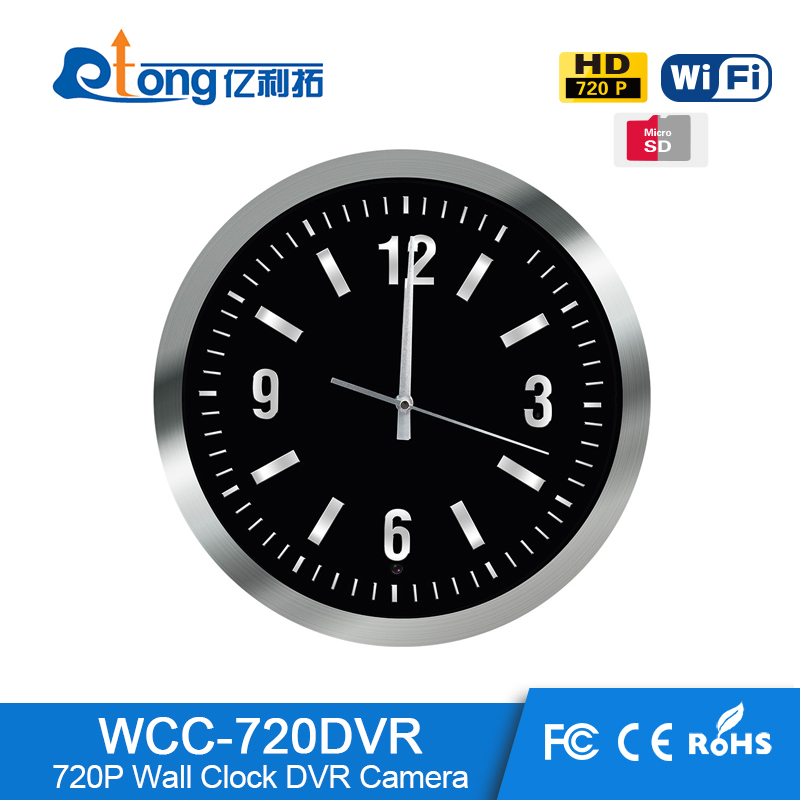 High Quality Low Costs Home Security Alarm System HD 720p Wall Clock Camera WCC-720DVR