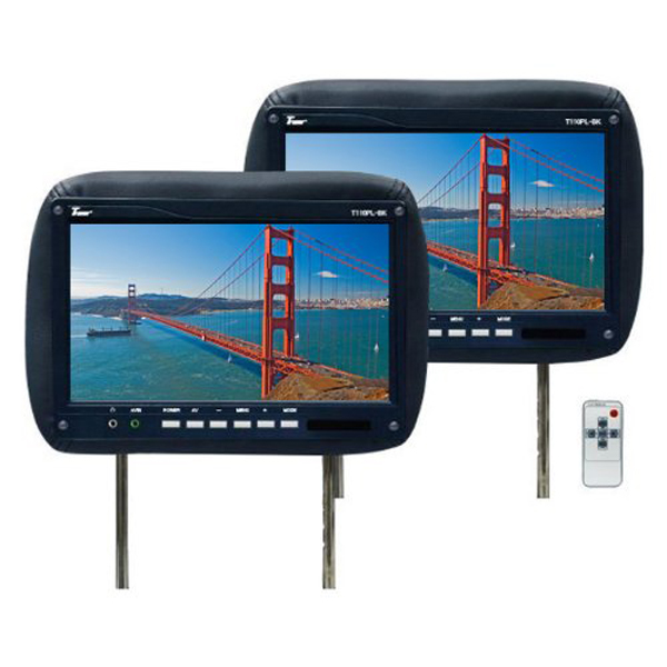 7'' portable design USB touch screen pos panel 250cd/m brightness professional Extension Display headrest lcd car monitor