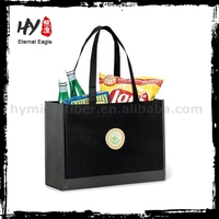Super foldable non woven shoping bag, cheap logo shopping tote bags, nonwoven fabric bag