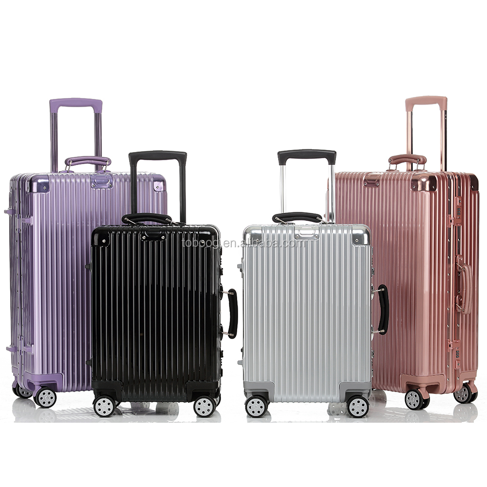 2017 Old Fashion ABS+PC Material China Supplier Trolley Luggage With Aluminum Frame,Factory Wholesale