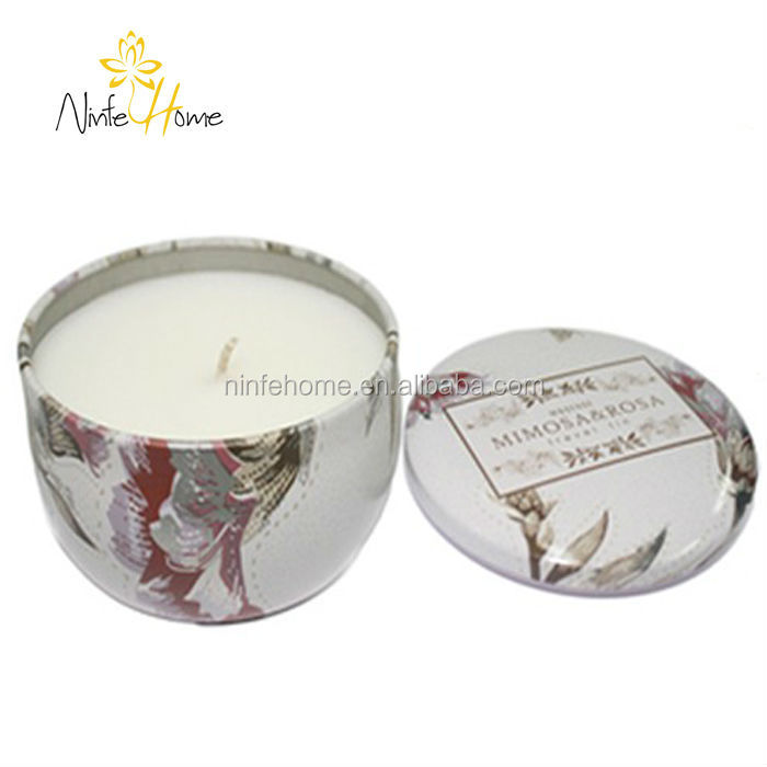 Home Fragrance Scented Tin Can Candle