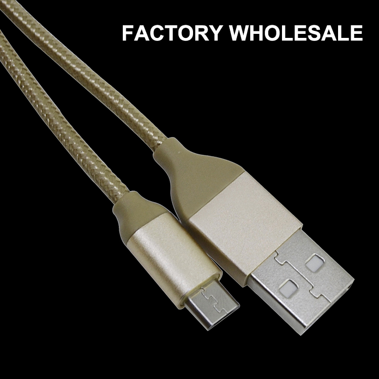 OEM 1M 1.5M 2M Micro Lead Nylon Braided <strong>Cable</strong> Wholesale USB <strong>Cable</strong> For Micro Android