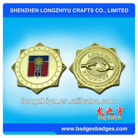 24k gold plating coins for memorial gifts