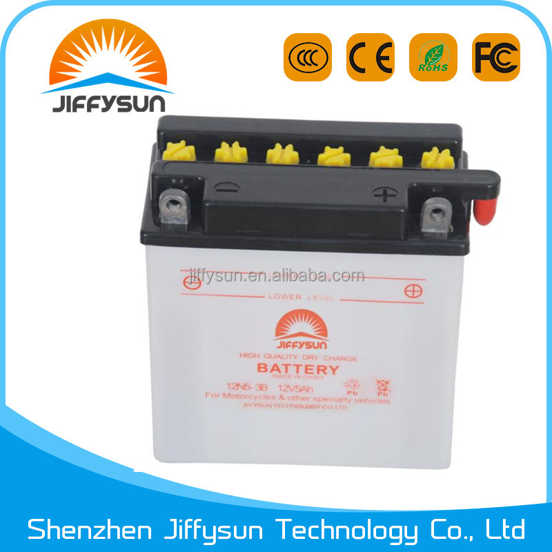 12N5 - 3B dry motorcycle battery