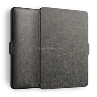 Flip Cover Canvas PU Leather Smart Case Cover for Amazon Kindle Paperwhite