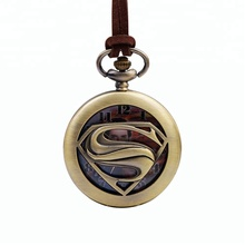 Retro leather cord metal alloy pendant pocket watch for women men,old man or women pendant pocket watches