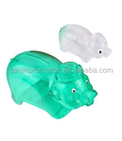 Promotional atm piggy bank,piggy bank atm(large plastic piggy bank)