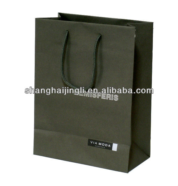 High quality silver foil paper bag