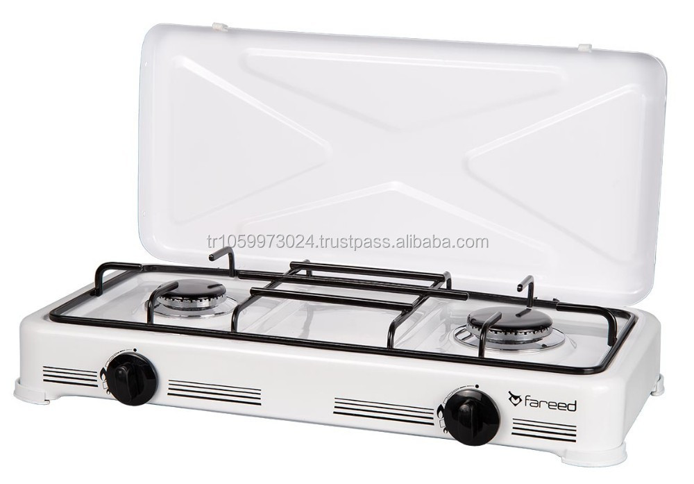 2 Burner gas cooker with cover