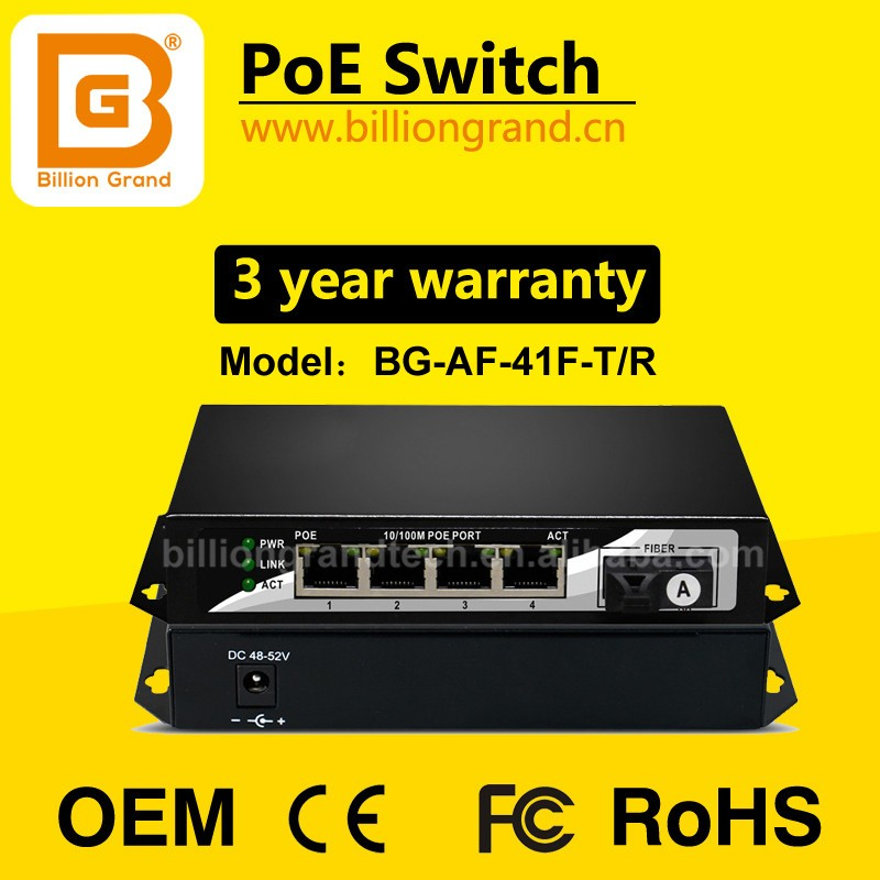 Active Poe Injector 48v 56v 15.4w 802.3af Ethernet Rj45 Power Adapter 4ports 48vdc Poe Ethernet Switch