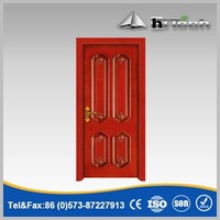 Interior Kitchen/ Bedroom Usage Red Wooden PVC Door