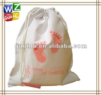 Eco friendly cute canvas drawstring backpack,can be customized drawstring bag
