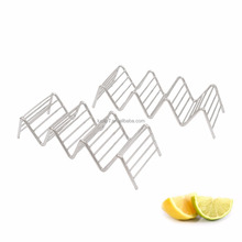 Stainless Steel Taco Holder Stand Set Of Two Premium Stainless Steel Taco Rack 3 or 4 Dishwasher Safe Taco Holders
