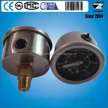 40mm axial direction liquid manometer Industrial Bourdon Tube Pressure Gauges