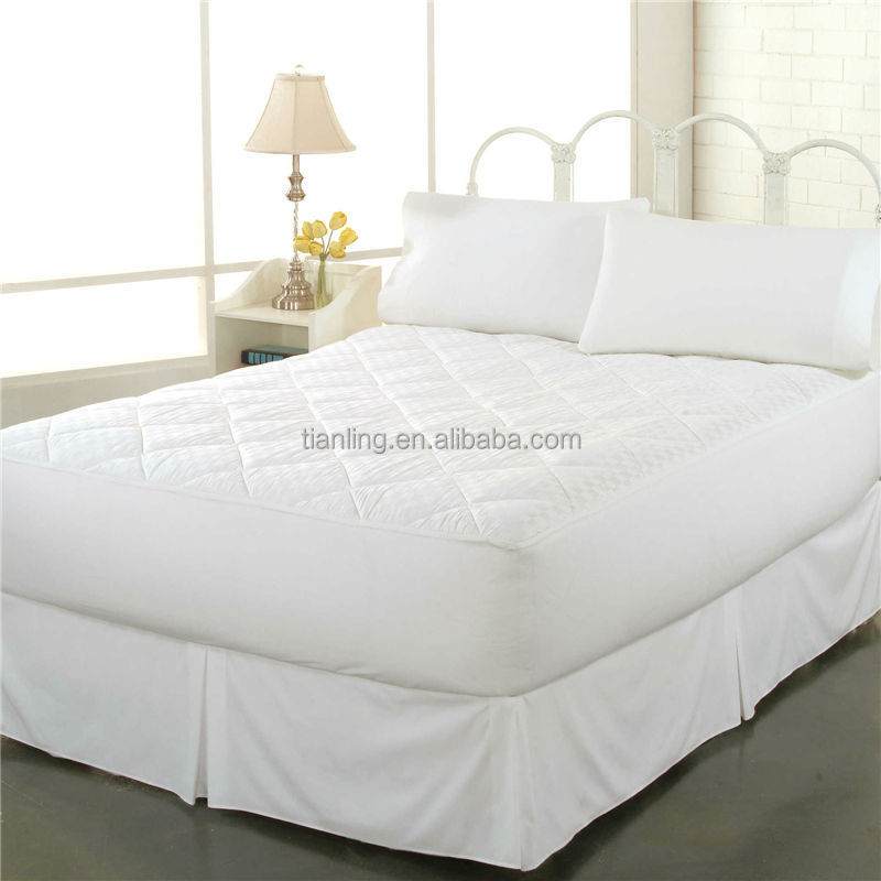 Microfiber Fabric Polyester Filling Diamond Quilting Mattress Cover Bed Topper - Jozy Mattress | Jozy.net