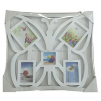 5 opening Home Decoration Beautiful Wall Hanging Plastic Photo Combination Frame Butterfly Picture Frame