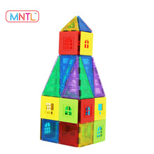 MNTL-60+6 Pieces 3D Magnetic Puzzle Geometry Intelligence Building Blocks Toys Tiles Montessori Material Educational Toys