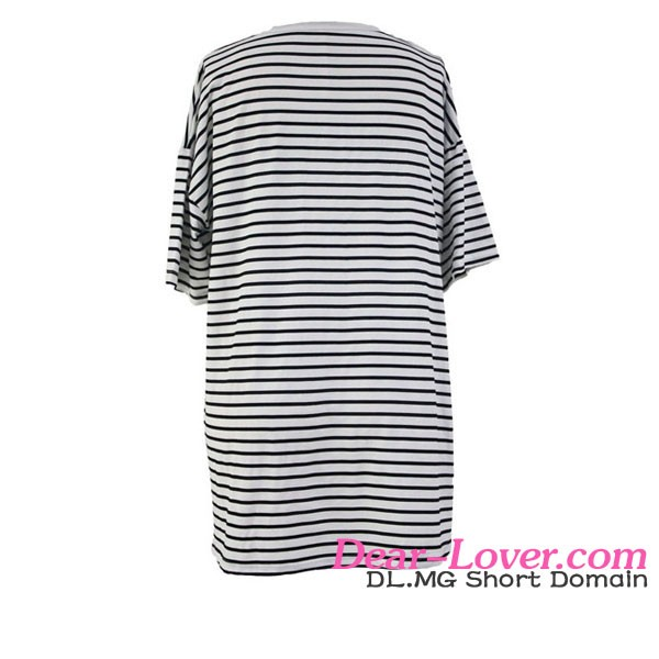 Wholesale Black White Striped Beach Shirt Brazilian Bikini Beachwear