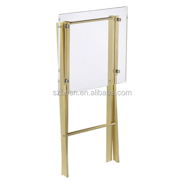 Modern Design Transparent Acrylic Folding Table For Sale