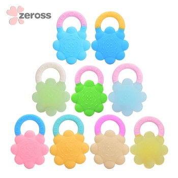 2018 High quality silicone Baby Teether Sunflower Teether