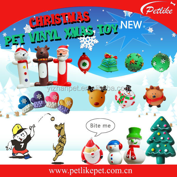 New Mold XMAS Vinyl Squeaky Pet Products Soft Dog Chewing Toys