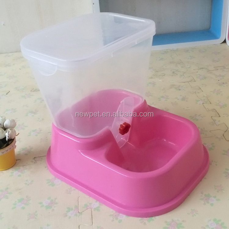 Processing customized direct sale plastic automatic pet feeder large plastic dog bowl