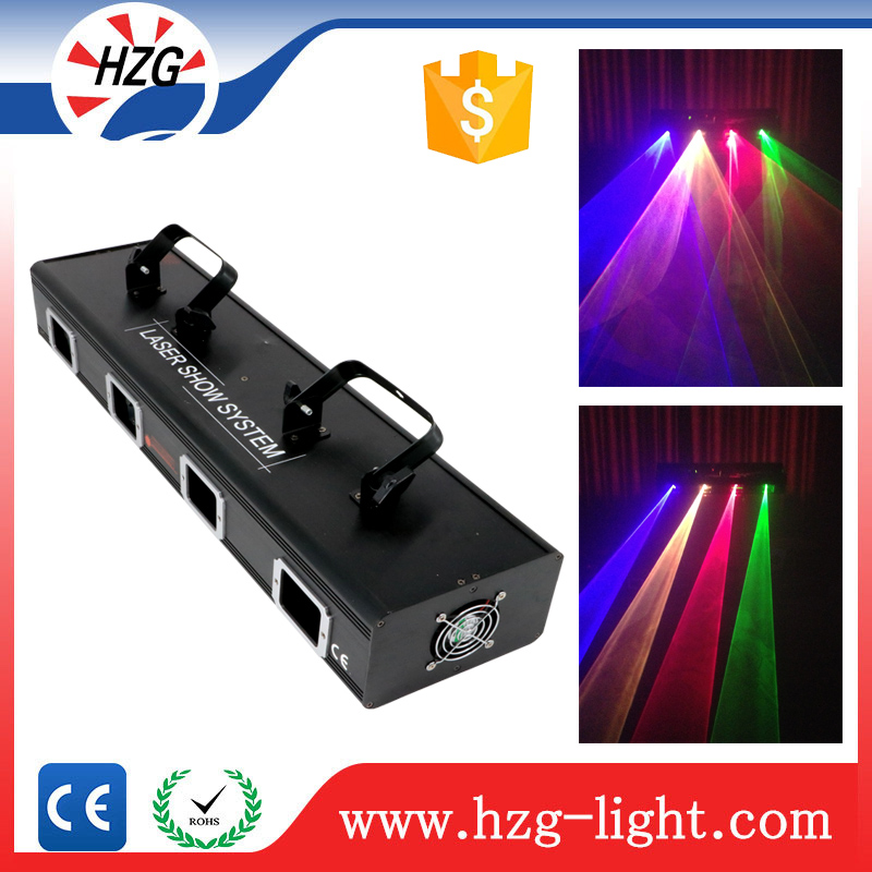Event stage wash red green blue yellow laser light 4 eyes laser line projector party equipment for sale