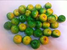artificial green orange with 30mm size
