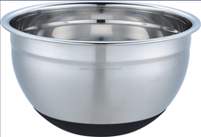 stainless steel mixing bowl with silicon base