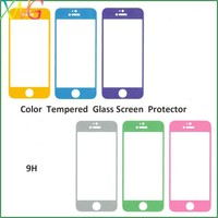 Best products for import color premium tempered glass screen protector for iphone 6 color skin guard