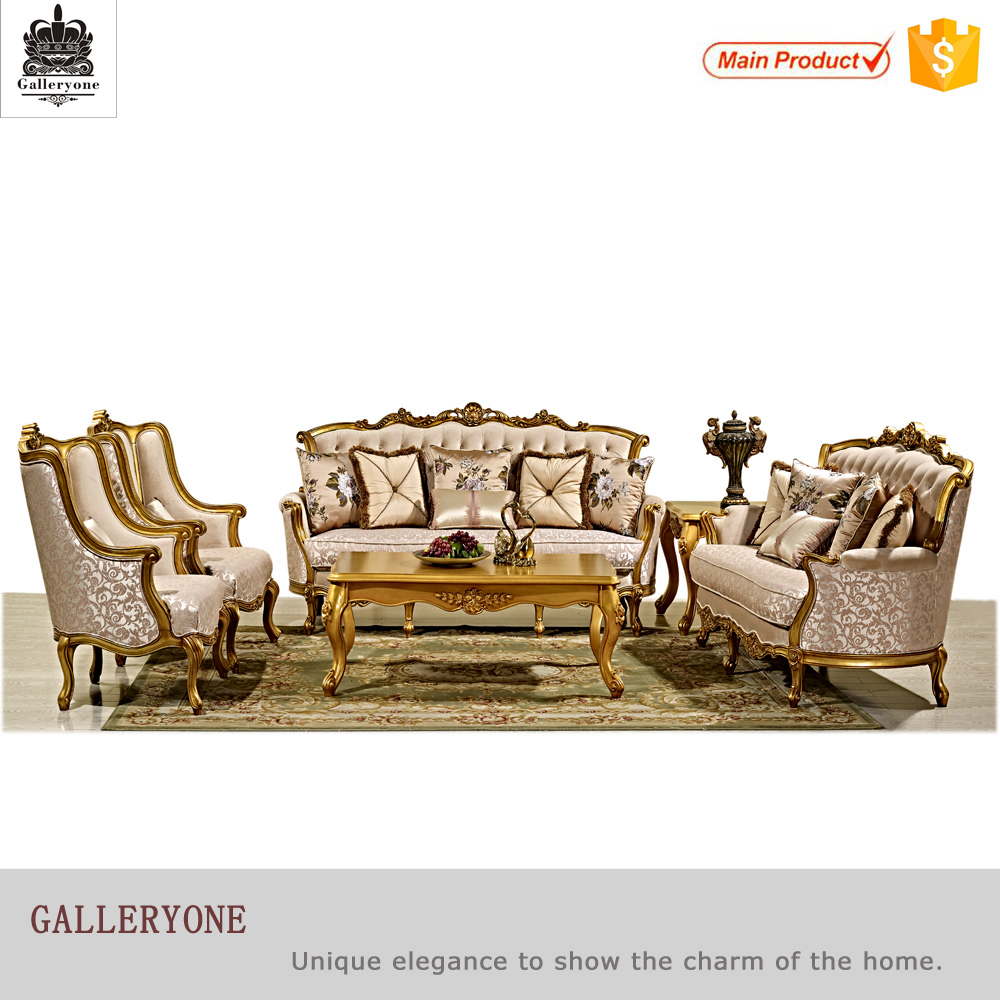 Classical cleopatra style luxury living room sofa set pictures of wooden <strong>furniture</strong>