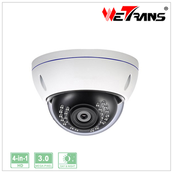 Easy installing Dome camera TR-X30AD117 3MP metal vandalproof HD TVI Camera AHD CVI