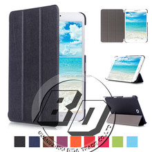 Fashionable Popular Three folding Pu leather flip stand cover case For Samsung Galaxy Tab S2 8.0 T715 Tablet case