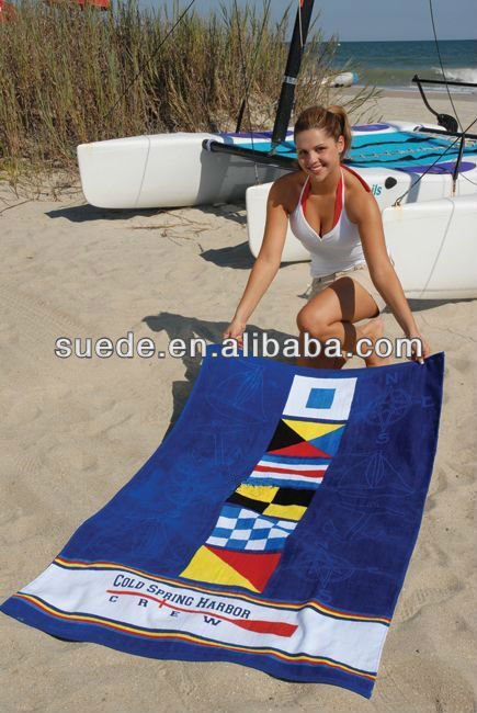 embroidery design for Custom microfiber printed beach towel promotion towels