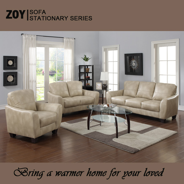 Low price living room sofa set leather office sectional sofa ZOY 8152A