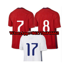 Thailand quality Vidal Chile football shirt 2016 Newest Century American cup red white Alexis chile soccer jersey