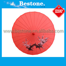 Hot sell decoration Parasols Silk umberlla bamboo umbrella