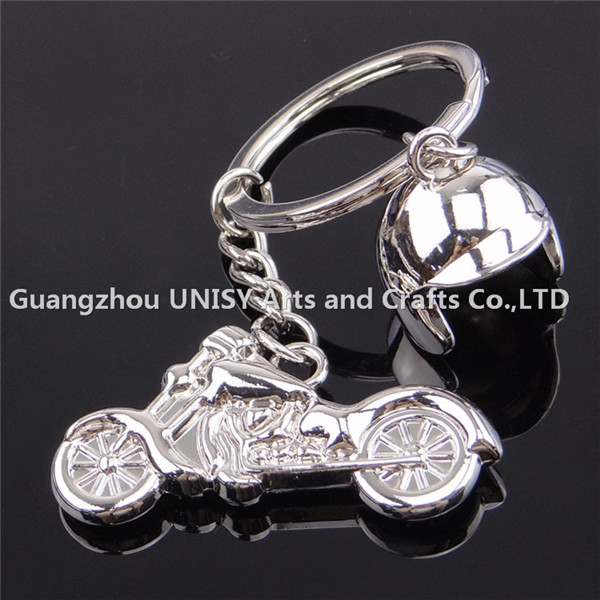 2016 new style fashion keychain Motorcycle Shape custom 3d metal keychain with motorcycle hat