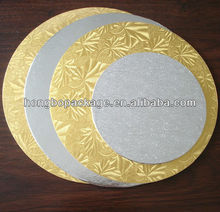 Gold And Silver Aluminum Foil Cardboard Cake Circle and Boards