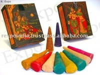 Herbal Namaste And Bam Bam Bhole Incense Cones varieties pattern